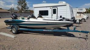 Triton TR-19 bass fishing boat with trailer johnson outboard 115hp 115